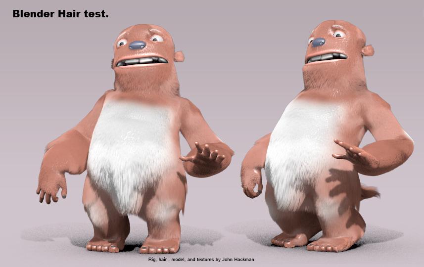 Blender Cookie Character Modeling : Blender fur tests doodling banjos